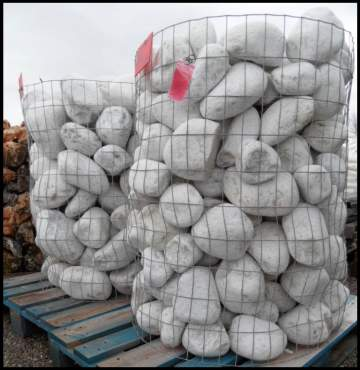 Galet marbre blanc 100 / 200 Box 1 tonne