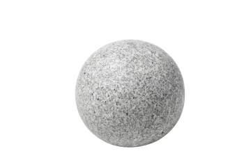 Sphère granit gris diamètre 30