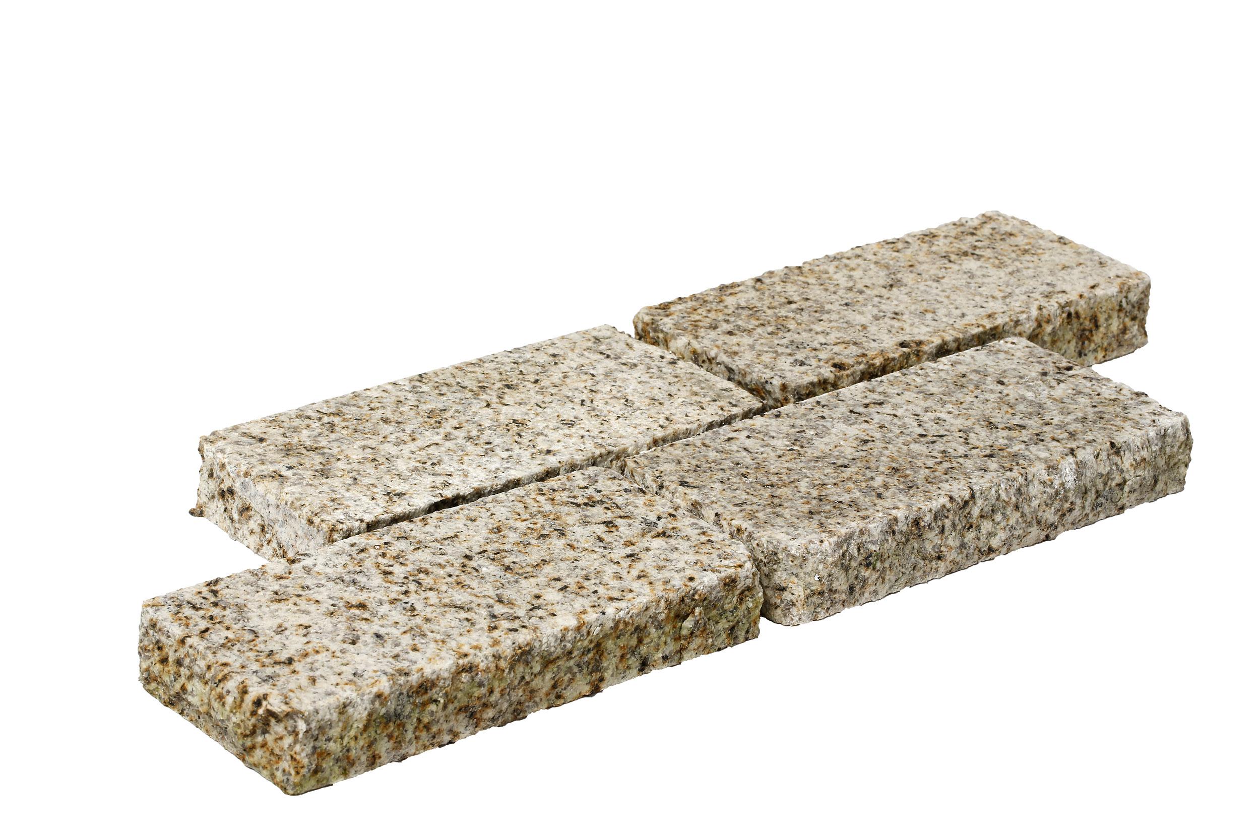 Pavé granit beige sable 10x20x3