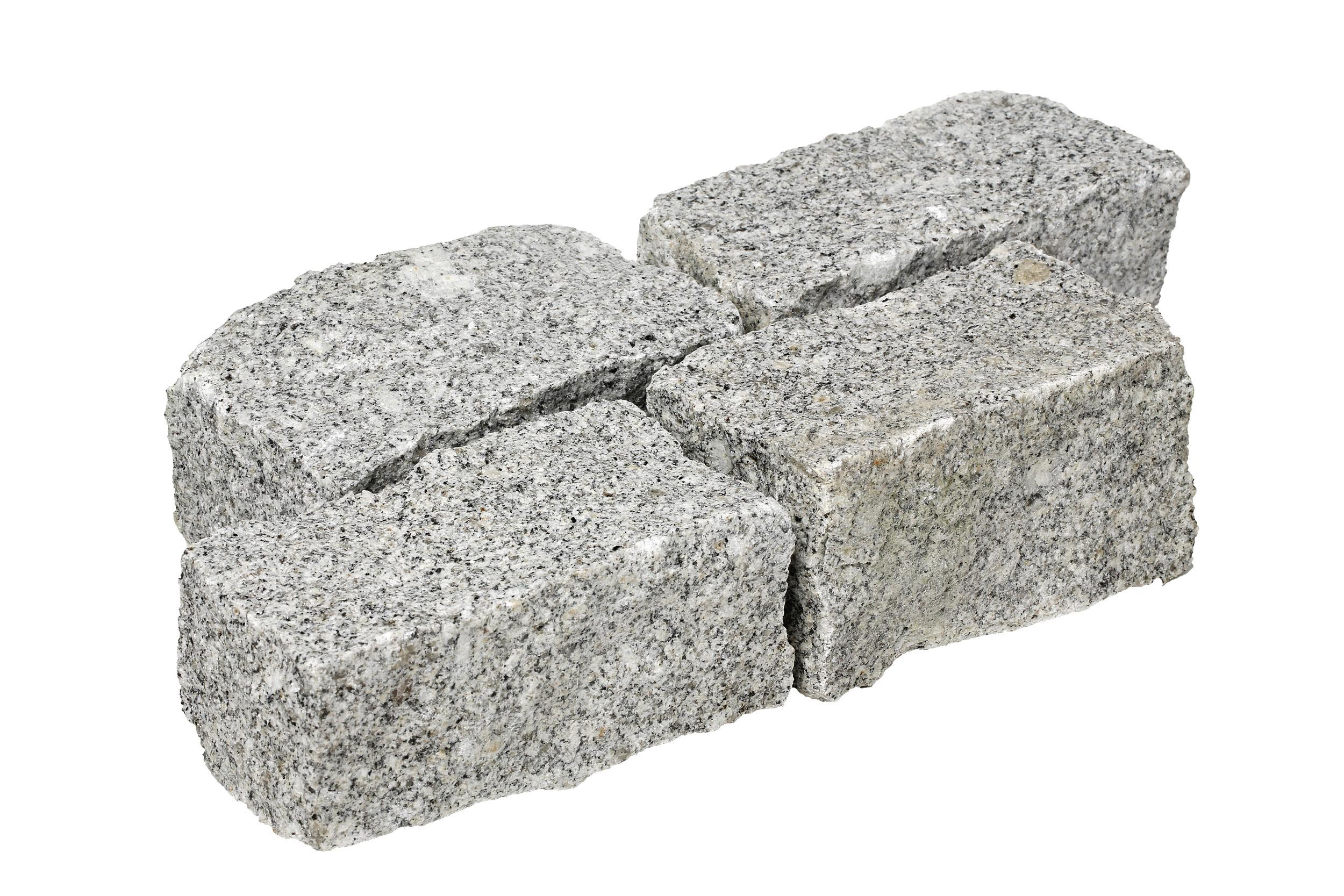 Pavé granit gris éclaté 8x10x18