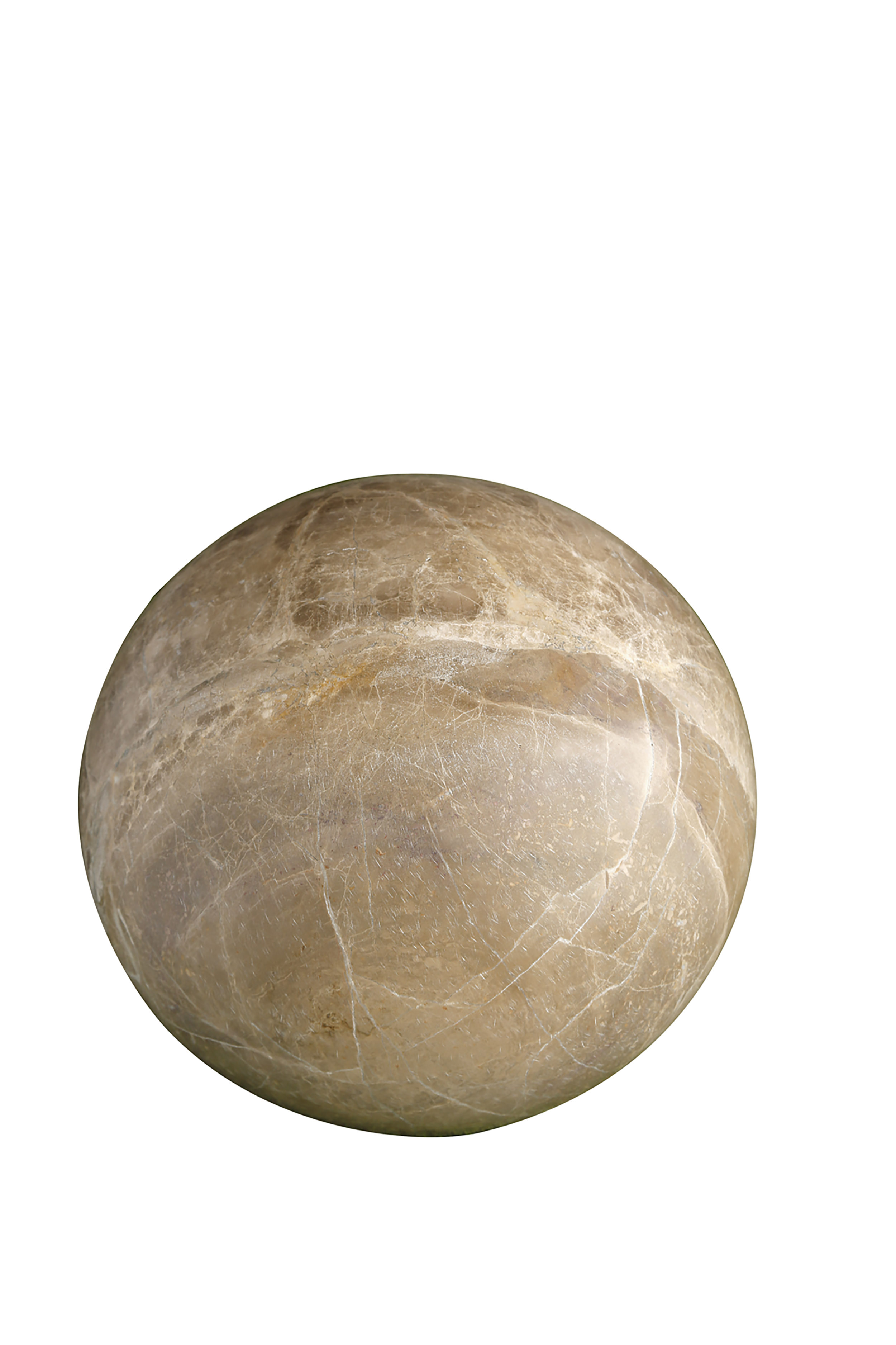 Sphère en marbre marron